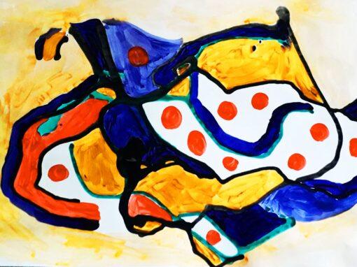 Gravitacijski crtež i Mondrian